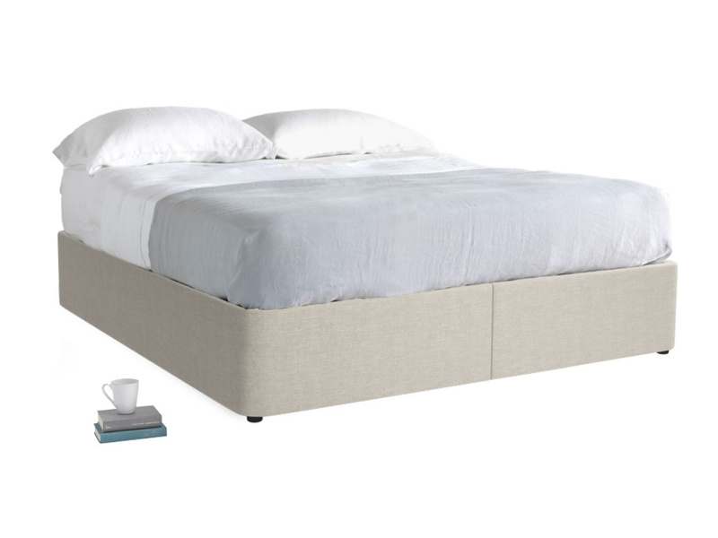 Superking Store Storage Bed in Thatch house fabric