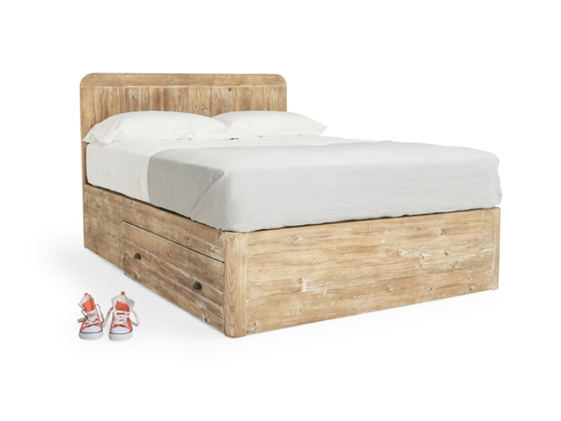 Double Woody Storage Bed in Reclaimed Fir
