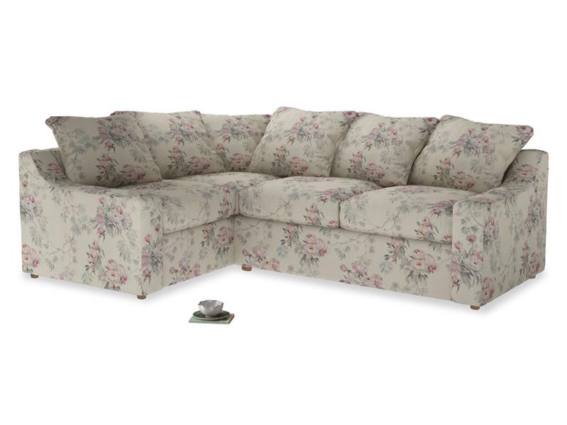 Large Left Hand Cloud Corner Sofa in Pink vintage rose