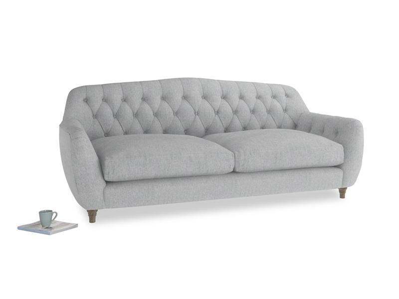 Large Butterbump Sofa in Pebble vintage linen