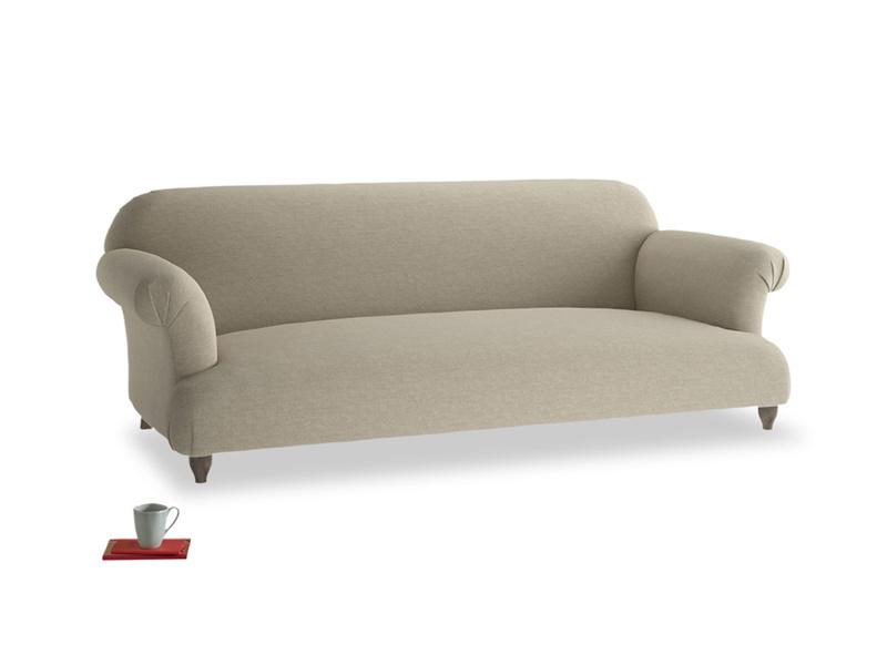 Large Soufflé Sofa in Jute vintage linen