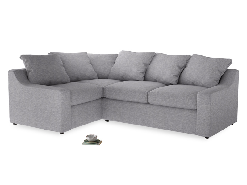 Large Left Hand Cloud Corner Sofa in Storm cotton mix