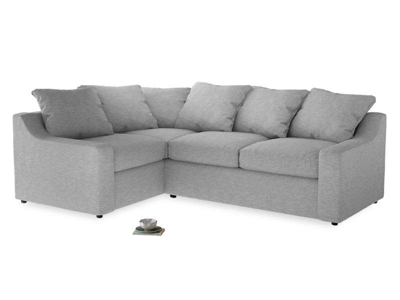 Large Left Hand Cloud Corner Sofa in Mist cotton mix