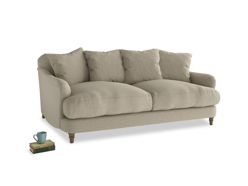 Medium Achilles Sofa in Jute vintage linen