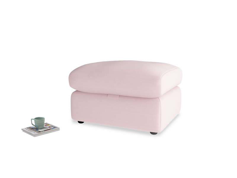 Chatnap Storage Footstool in Pale Rose vintage linen