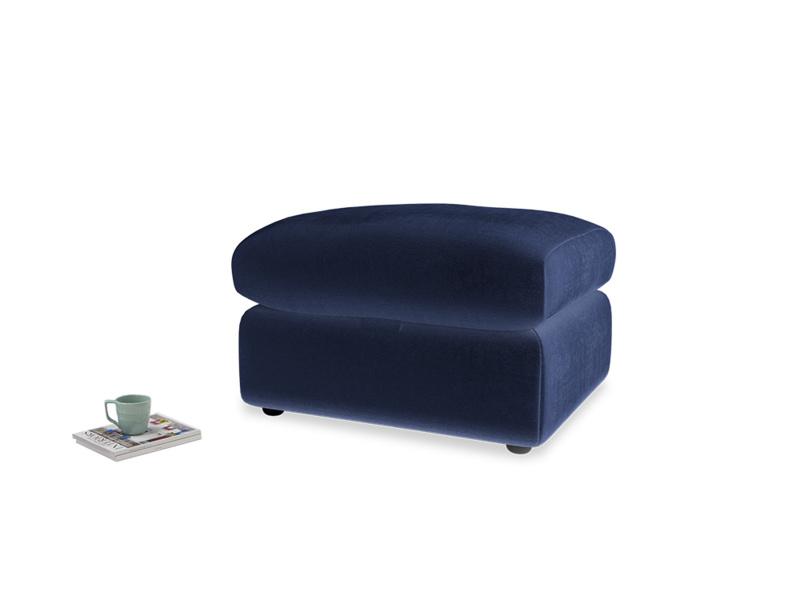 Chatnap Storage Footstool in Midnight plush velvet