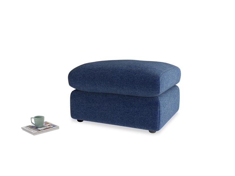 Chatnap Storage Footstool in Ink Blue wool