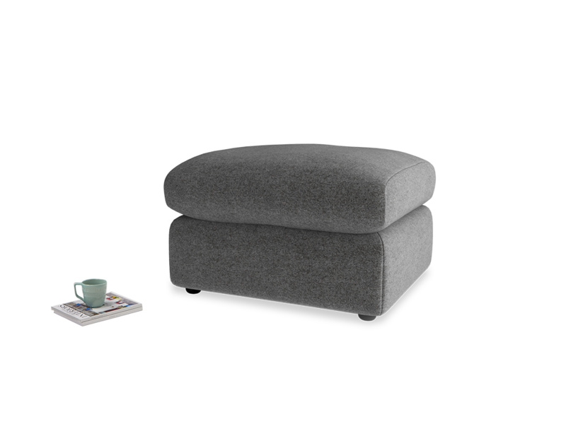 Chatnap Storage Footstool in Shadow Grey wool
