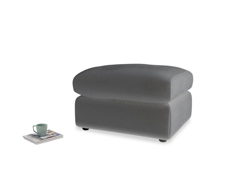 Chatnap Storage Footstool in Steel clever velvet