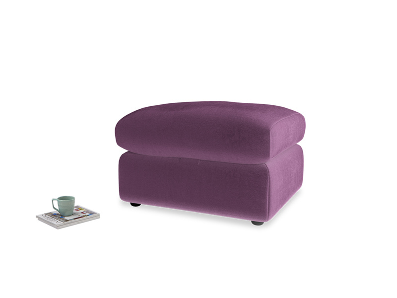 Chatnap Storage Footstool in Grape clever velvet