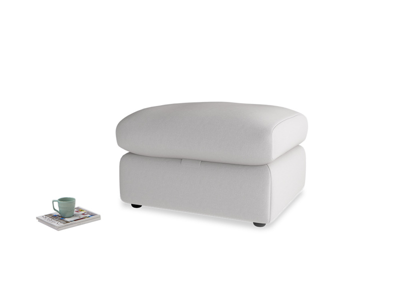 Chatnap Storage Footstool in Flint brushed cotton