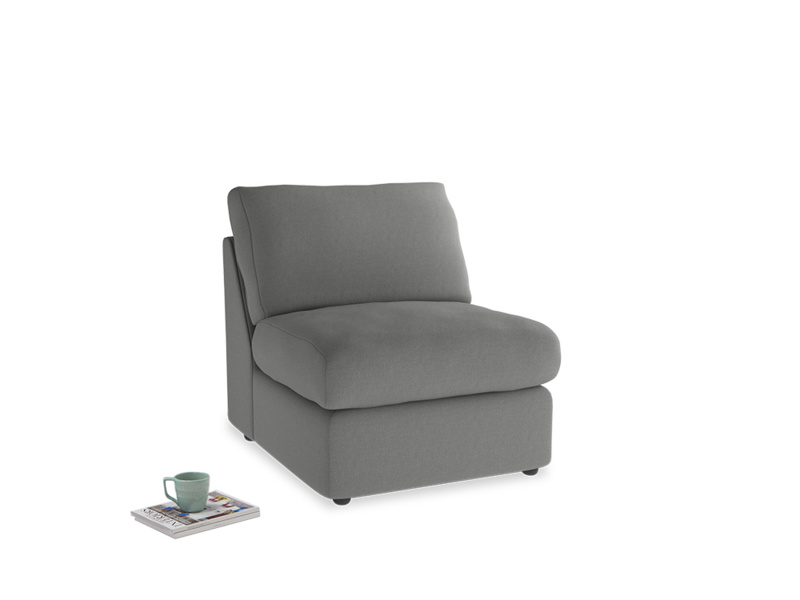Chatnap Storage Single Seat in French Grey brushed cotton