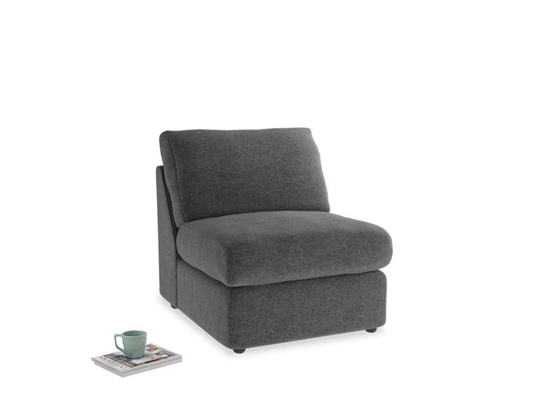 Chatnap Storage Single Seat in Shadow Grey wool