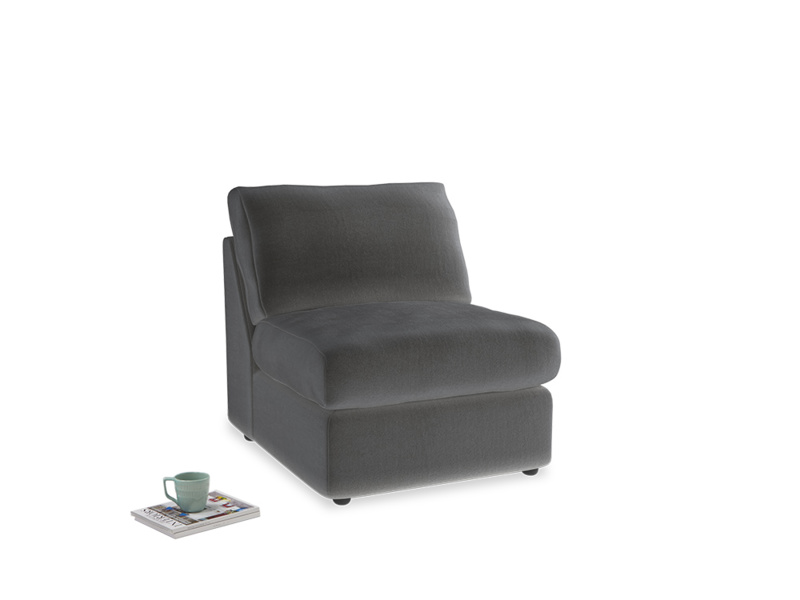 Chatnap Storage Single Seat in Steel clever velvet