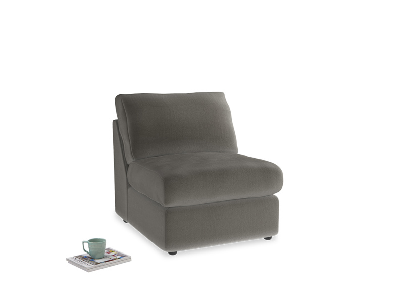 Chatnap Storage Single Seat in Slate clever velvet