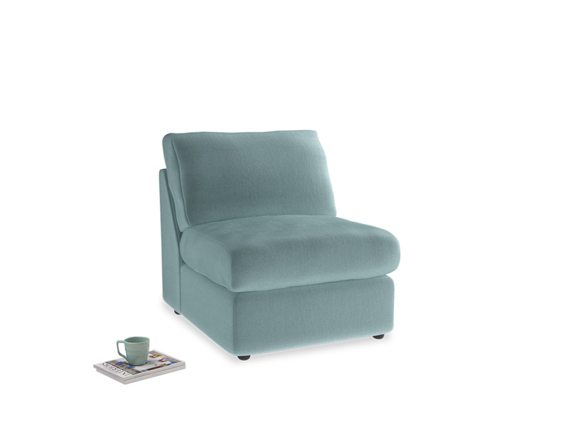 Chatnap Storage Single Seat in Lagoon clever velvet