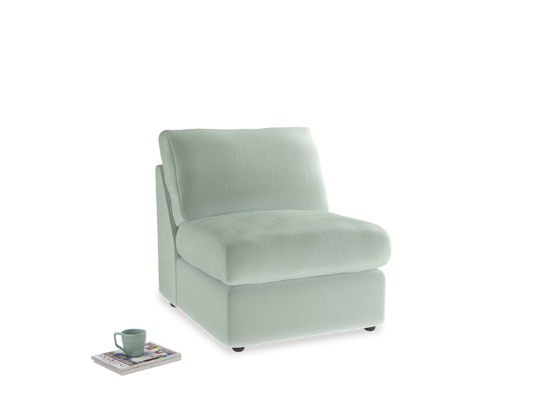 Chatnap Storage Single Seat in Mint clever velvet
