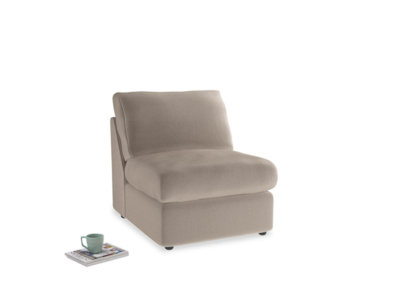 Chatnap Storage Single Seat in Fawn clever velvet