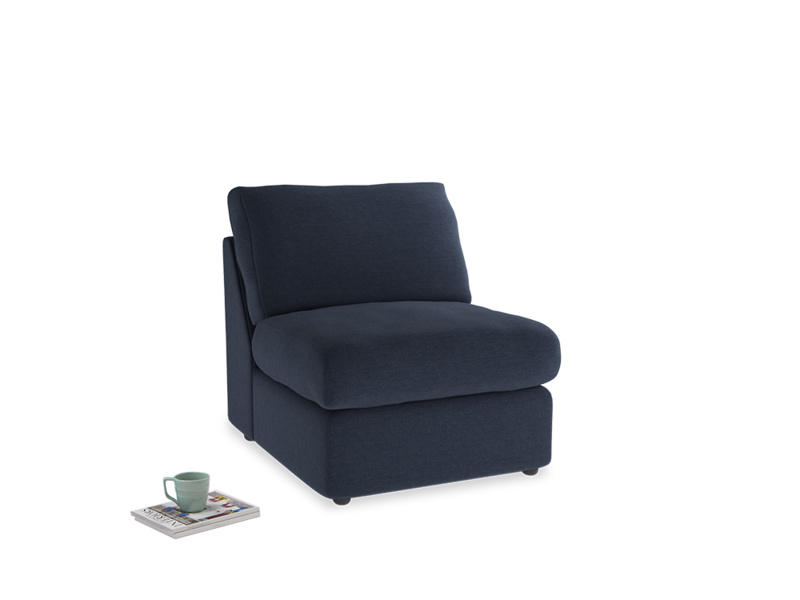 Chatnap Storage Single Seat in Indigo vintage linen