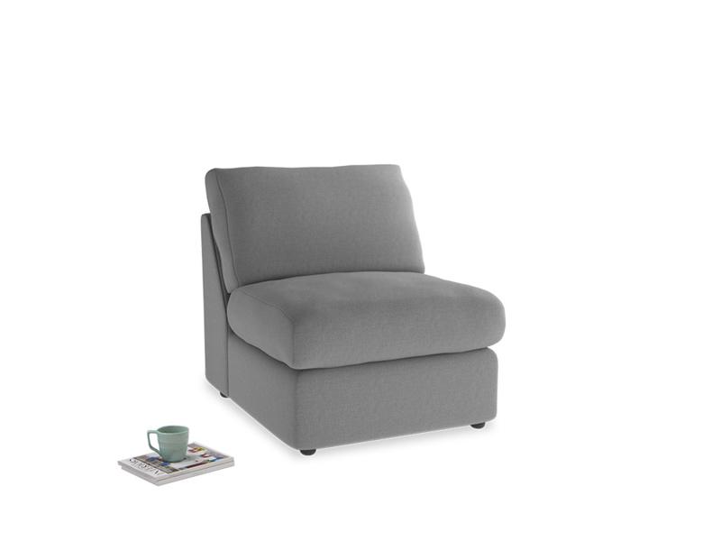 Chatnap Storage Single Seat in Gun Metal brushed cotton