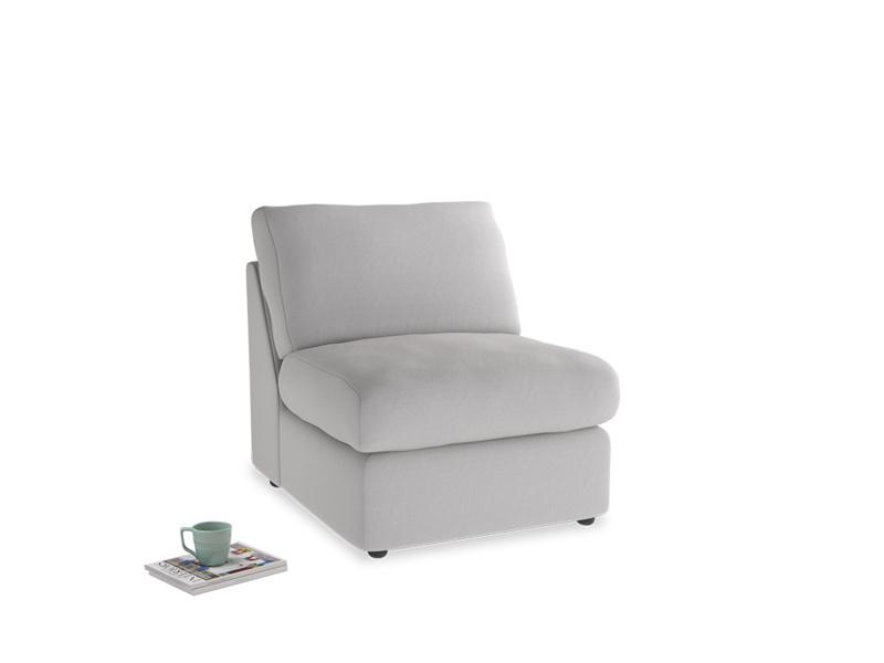 Chatnap Storage Single Seat in Flint brushed cotton