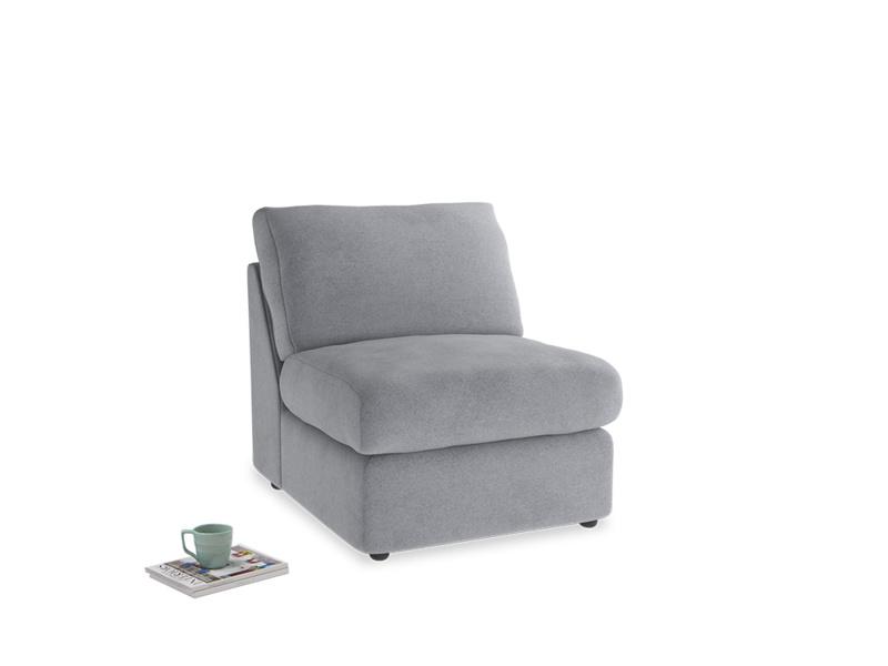 Chatnap Storage Single Seat in Dove grey wool