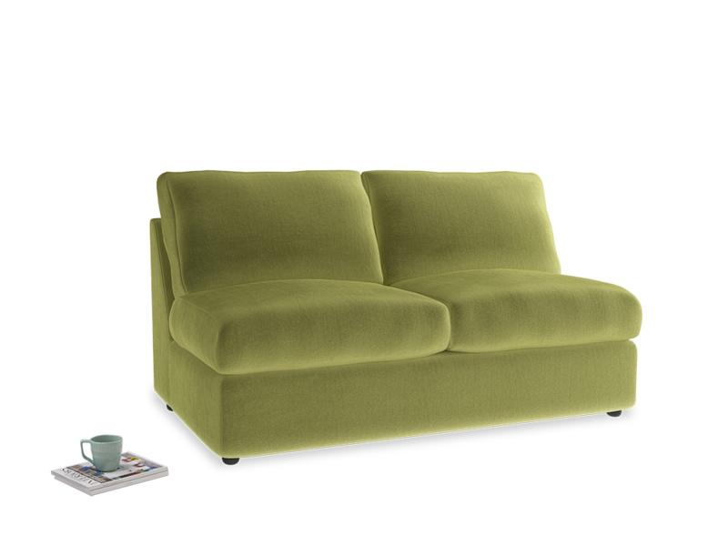 Chatnap Sofa Bed in Olive plush velvet
