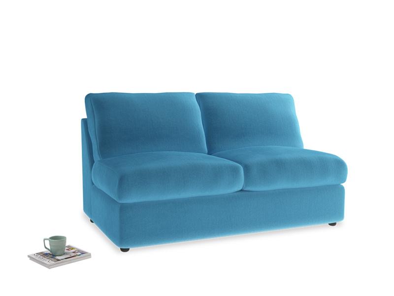 Chatnap Sofa Bed in Teal Blue plush velvet