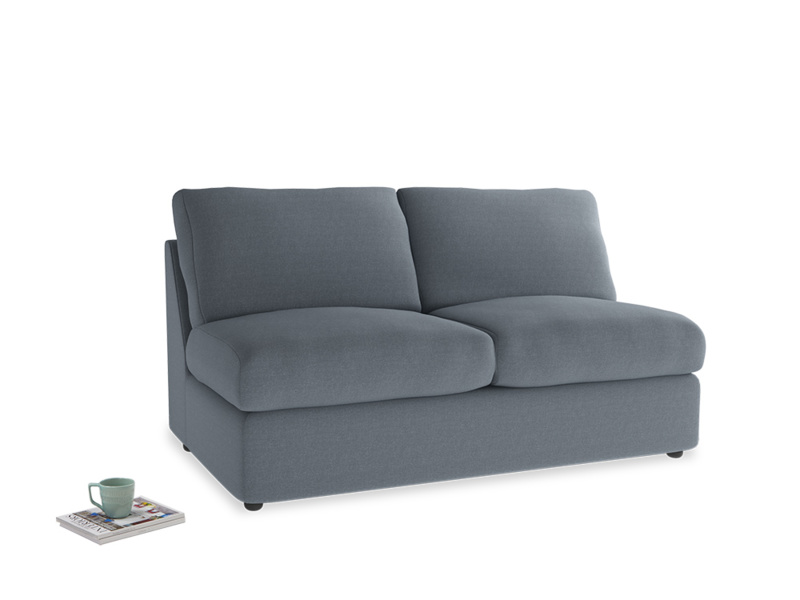 Chatnap Sofa Bed in Blue Storm washed cotton linen
