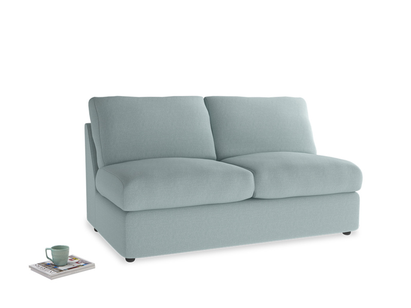 Chatnap Sofa Bed in Smoke blue brushed cotton