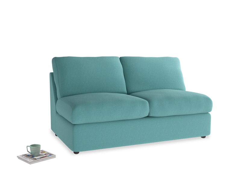 Chatnap Sofa Bed in Peacock brushed cotton