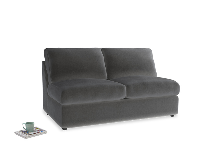 Chatnap Storage Sofa in Steel clever velvet