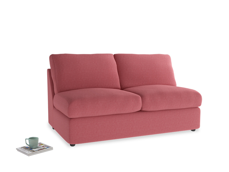 Chatnap Storage Sofa in Raspberry brushed cotton