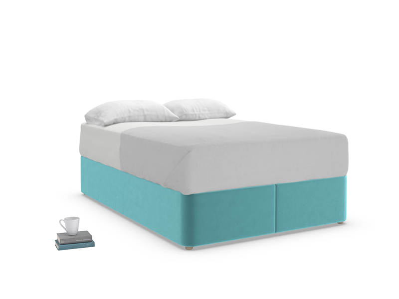 Double Store Storage Bed in Belize clever velvet