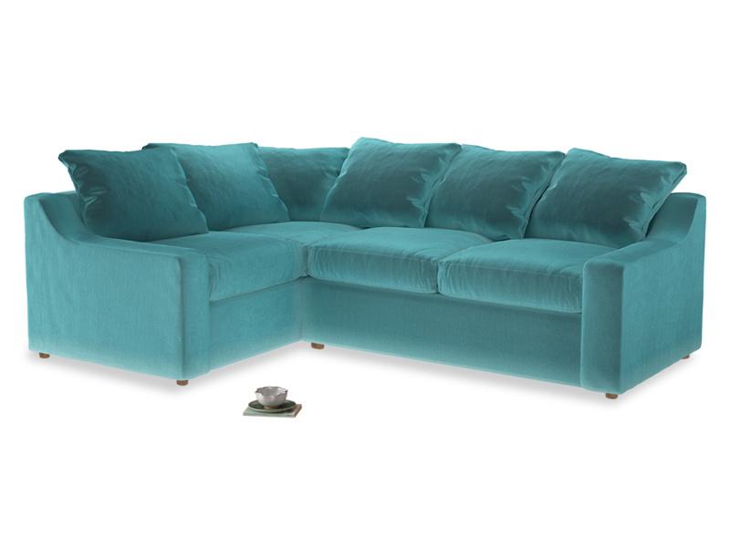 Large Left Hand Cloud Corner Sofa in Belize clever velvet