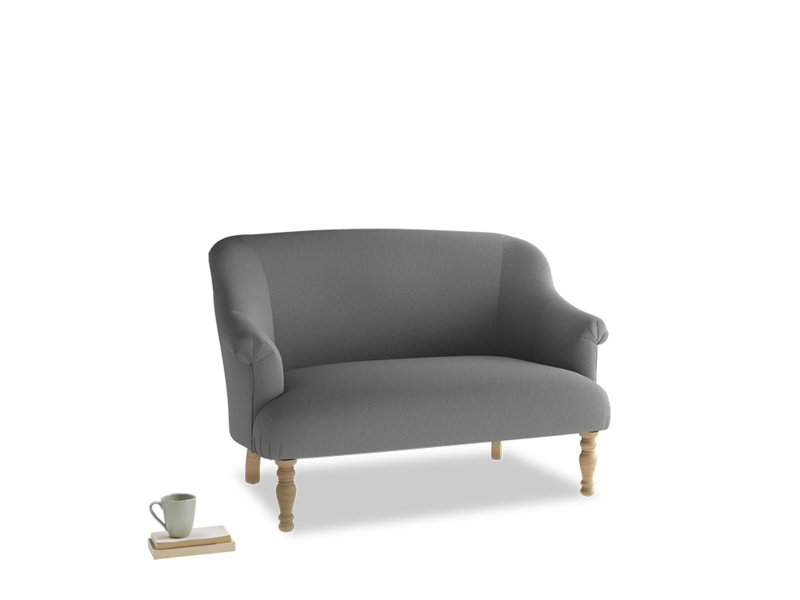 Small Sweetie Sofa in French Grey brushed cotton