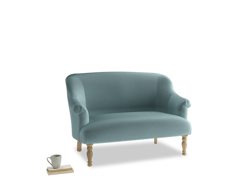 Small Sweetie Sofa in Lagoon clever velvet