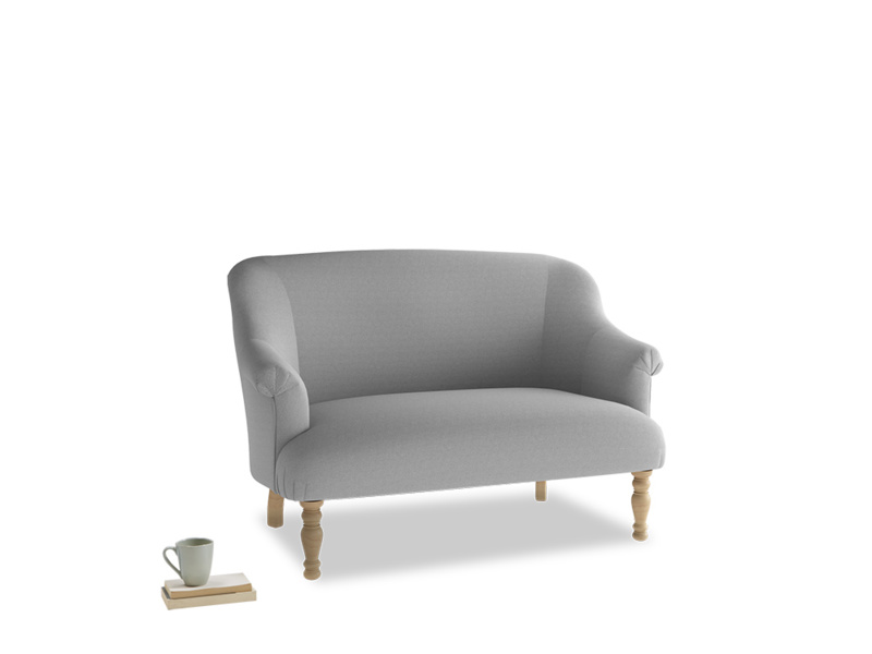 Small Sweetie Sofa in Magnesium washed cotton linen