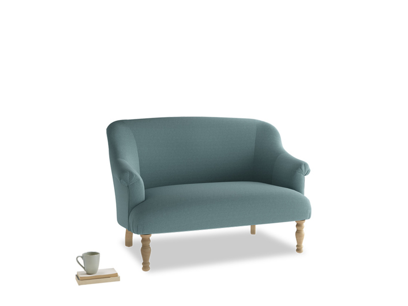 Small Sweetie Sofa in Marine washed cotton linen