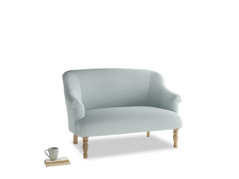 Small Sweetie Sofa in Duck Egg vintage linen