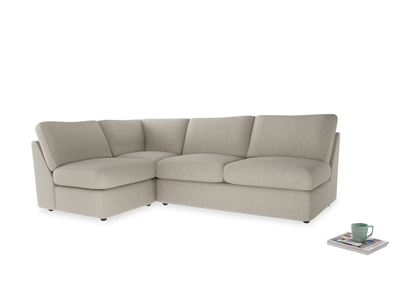 Large left hand Chatnap modular corner storage sofa in Thatch house fabric