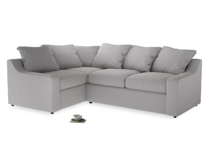 Large Left Hand Cloud Corner Sofa in Flint brushed cotton