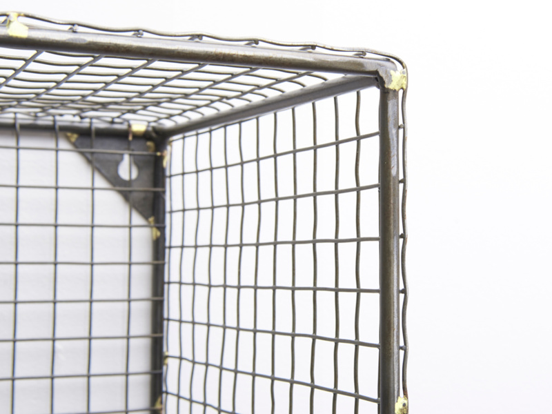 Practical strong waffle wall organiser and wire shelving