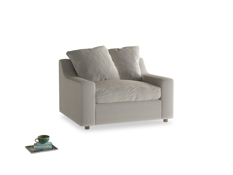 Cloud love seat sofa bed in Smoky Grey clever velvet