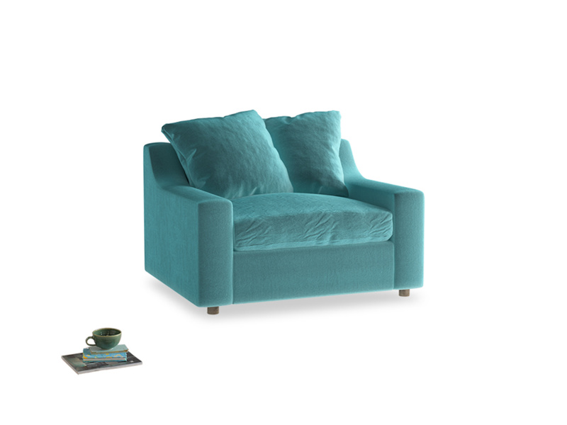 Cloud love seat sofa bed in Belize clever velvet