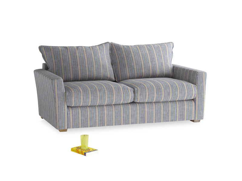 Medium Pavilion Sofa Bed in Brittany Blue french stripe