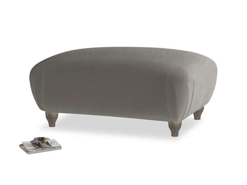 Rectangle Homebody Footstool in Slate clever velvet