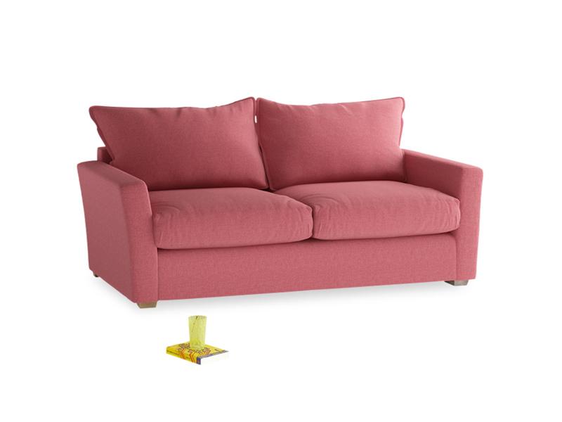 Medium Pavilion Sofa Bed in Raspberry brushed cotton