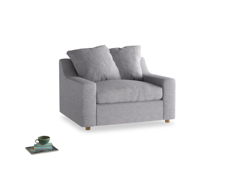Cloud love seat sofa bed in Storm cotton mix