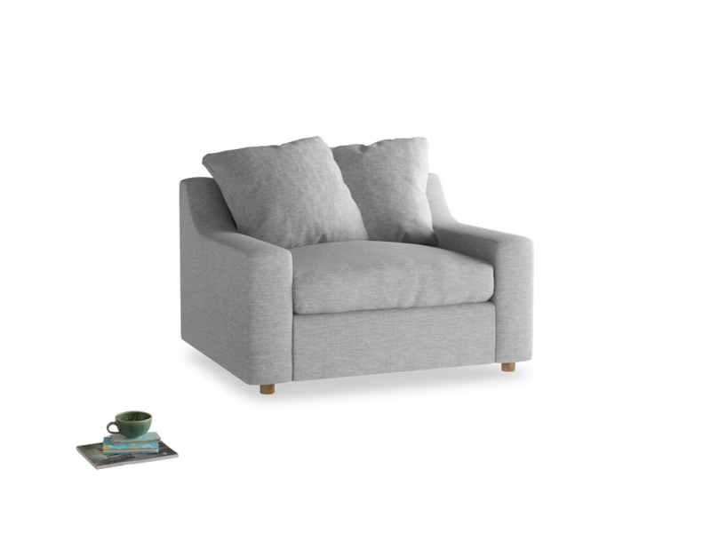 Cloud love seat sofa bed in Mist cotton mix